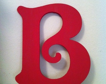 Wooden Wall Letter - Hand-Painted - Victorian Font - B