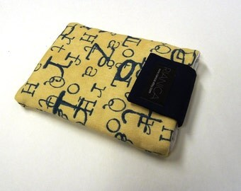 Fabric Alphabet print Kobo or Kindle cover