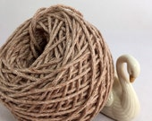 Certified Organic Cotton Undyed  Brown Yarn, Naturally Pigmented, Color Grown, Eco friendly, Fair Trade