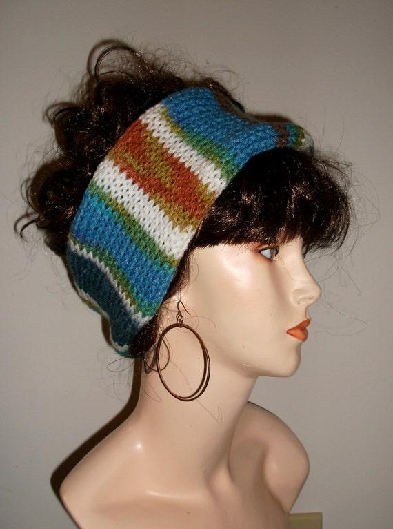 Knitted Headband Patterns Wide : Hand Knitted Headband Wide Womens Headband Thich Knit Ear