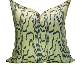 Agate pillow cover in Slate/Linen