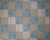 CLOSEOUT Blue Flower Patchwork  Quilt