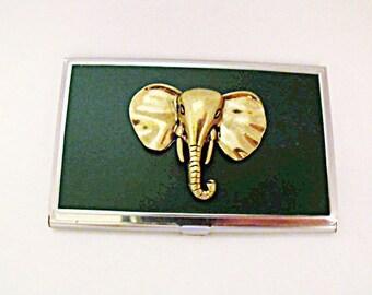 Credit Card Holder Business Card Holder,  Brass Elephant Handmade