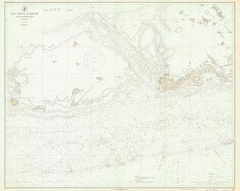 1923 Nautical Chart of Key West Harbor