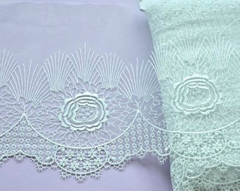 Mint Green Floral Lace, Victorian, Lace Accessories, Aqua Marine Lace, Vintage Wedding, Flower Girls, Pastel Trim