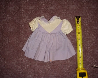 Vintage Lilac and White Doll Dress