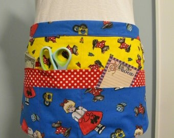Teacher Aprons-Crafter Vendor Utility Apron-Ann and the Scotties