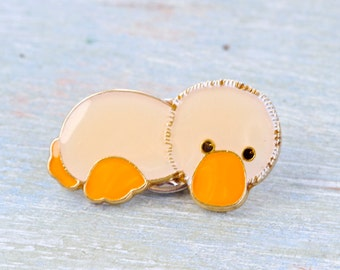 Cute Platypus Badge - Wildlife Lapel Pin