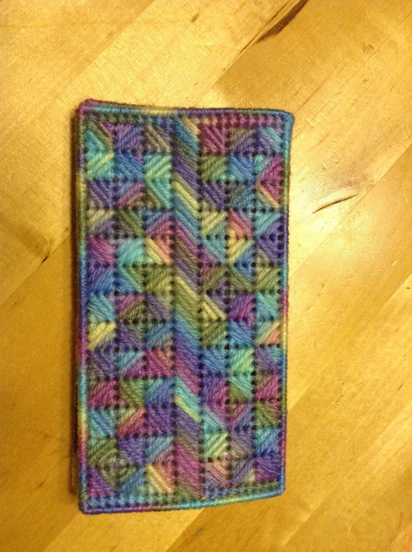 Checkbook Cover Pattern ~ Plastic canvas checkbook cover