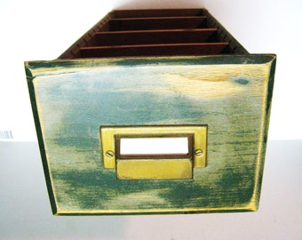 "VINTAGE FILE DRAWER - handy storage file drawer - Holds 5"" by 7"" cards, photos etc., Organizer, Storage"