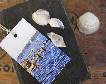 Set of 20 Nautical Gift Tags, Mattapoisett Harbor, Massachusetts Buzzard's Bay