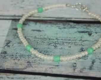 Turquoise/Mint Beaded Bracelet