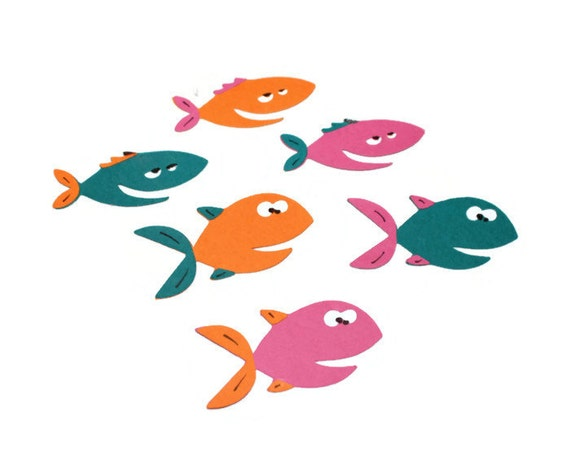 Fish Die Cuts Set Of 6 1 In You Choose Your By