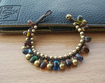 Jingle bells little lovely  bracelet colorful glass beads Thailand handmade jewelry on christmas gift new collection by Nannapatt/Handmade