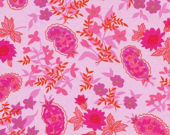 99028 -  Jennifer Paganelli Jodi in Fuchsia color-Laminated cotton -  1/2 yard