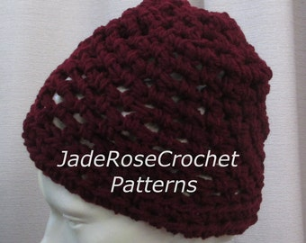 Free Crochet Hat Pattern Chunky Team Beanie Quick and Easy  PDF009