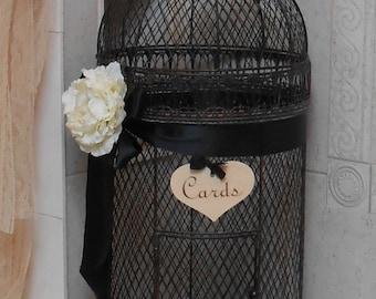 SALE Ex Large Birdcage Wedding Card Holder / Rustic Birdcage / Birdcage Cardholder / Elegant Birdcage / Wedding Decor / Wedding Birdcage