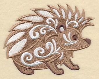 Flourish Hedgehogs Embroidered Flour Sack Hand/Dish Towel
