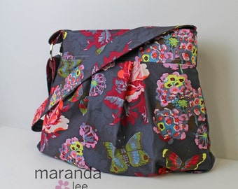 Emma Diaper Bag Large Lou Lou Ti lined -READY to SHIP Baby Bag Nappy Bag Adjustable Comfort Strap Stroller Attachment