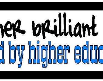 Another brilliant mind funny Vinyl decal bumper sticker
