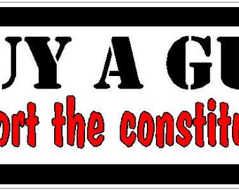 Buy a gun support the constitution funny Vinyl decal bumper sticker