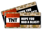 Set of 12 - TNT Hope you had a Blast Personalized Candy Bar Wrappers