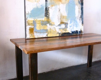 Popular items for industrial dining table on etsy for Where to buy reclaimed wood los angeles