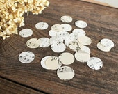 500 paper circles, polka dots - sheet music, music note wedding centerpiece decor confetti