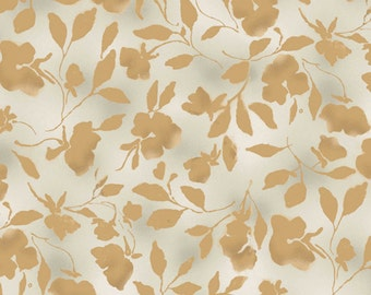 SALE - Abalone Cove - Gold All Over Floral from Maywood Studio