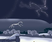 Uffington Hare - five greetings cards