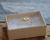 Ring cloud 18k gold plated
