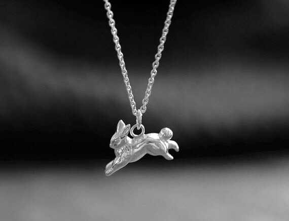 Necklace hare silver