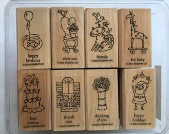 Stampin Up Little Hellos Stamp Set Used