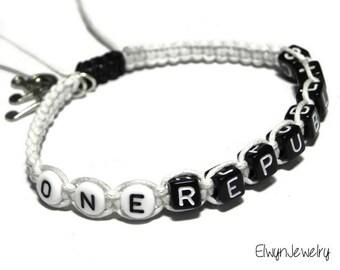 One Republic Bracelet, One Republic Jewelry, One Republic Fan, Pop Music Jewelry, Music Bracelet, Band Bracelet, Boy Bracelet, Girl Bracelet