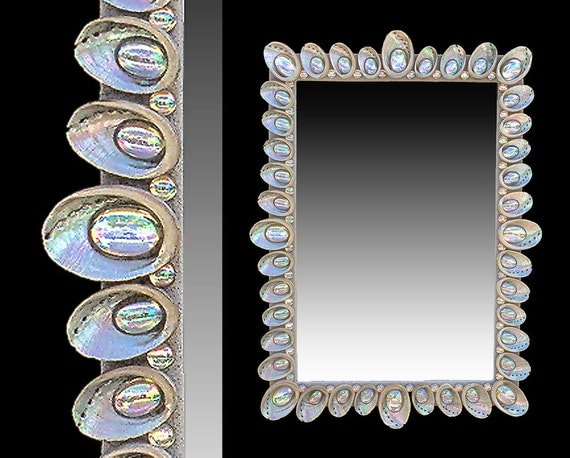 Custom made shell mirrors designed to your size color for Custom made mirrors
