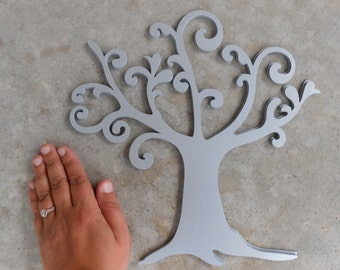 25 Swirly Trees, 11.5 Inch. CHOOSE YOUR COLORS.  Wedding, Wishing Tree, Decoration, Party.