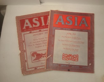 Asia , The American Magazine Of The Orient , 1921, 1922, India , China