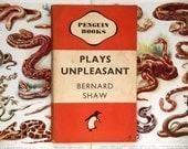 Crumpled Penguin paperback Book  by Bernard Shaw - Plays Unpleasant
