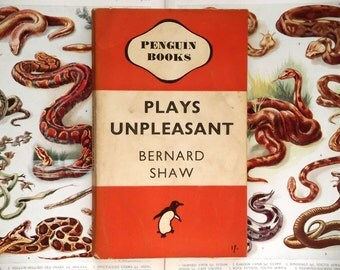 Crumpled Penguin paperback Book  by Bernard Shaw - Plays Unpleasant