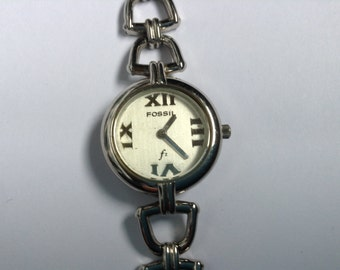 FOSSIL Vintage Early Wrist Watch Ladies Stainless Steel F2 Early Model ES-8767