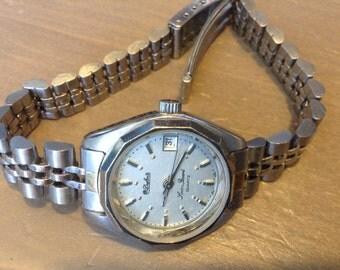 Dufonte Lucien Piccard Quartz vintage silver tone wrist watch