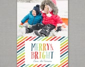 Christmas Card -- Merry and Bright -- Colorful