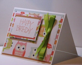 Hooo's Having a Happy Birthday Greeting Card