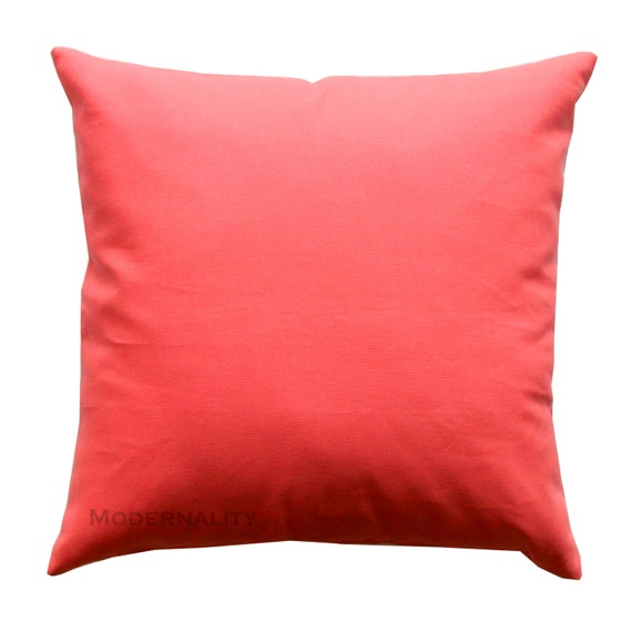Coral Sofa Pillow: Accent Pillows Solid Coral Pillow Cover All Sizes Zippered