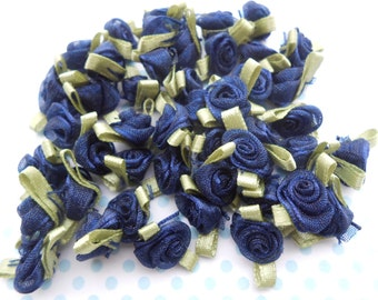 Roses Organza Dark Blue 20 pcs.