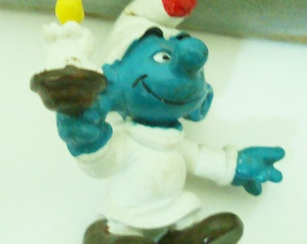 """SMURF, this is """"Candle""""   he is # 20060, in excellent condition, see description"""