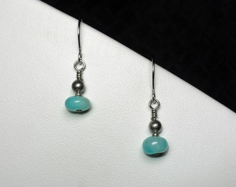 Amazonite Earrings in Silver