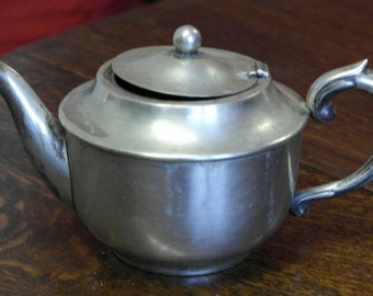 antique silver plate tea pot