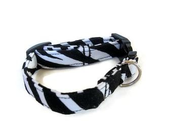 Zebra Dog Collar size Extra Small