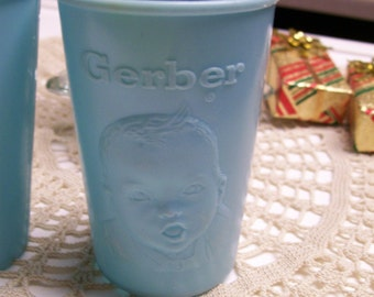 "Gerber Baby Cup Vintage 3"" Plastic Drinking Cup Advertising"